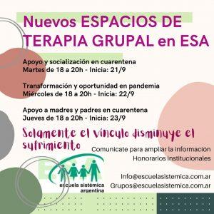 Espacios de Terapia Grupal ESA